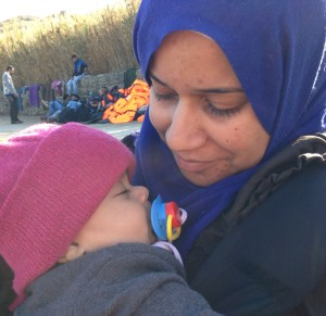 Syrian refugee mother and baby 1